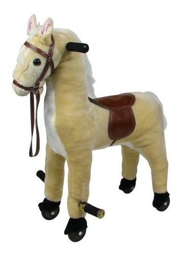 Happy Trails Plush Walking Horse Con Ruedas Y Reposapiés