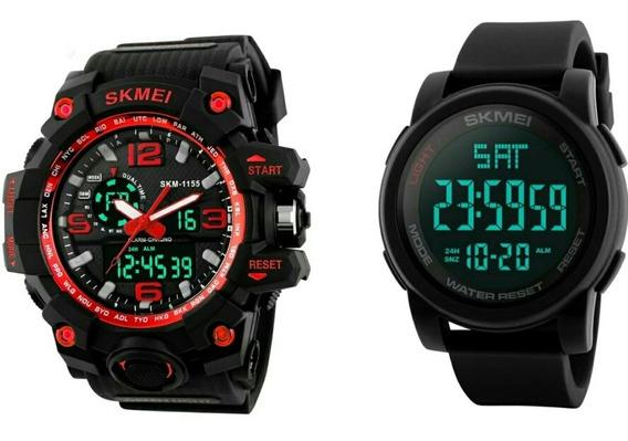 2 Relógio Masculino Skmei 1257 + 1155 Esportivo. Prova ´água