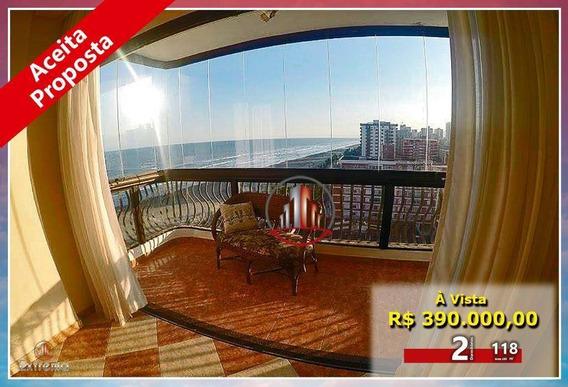 Apartamento Com 2 Dormitórios À Venda, 118 M² Por R$ 390.000,00 - Vila Tupi - Praia Grande/sp - Ap1821