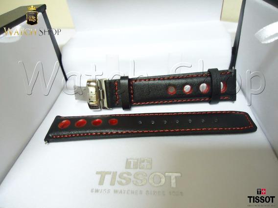 Pulseira De Couro Tissot T17 / T067 19mm Vermelha - Original