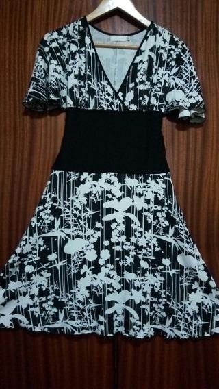 Hermoso Vestido Vitamina Blanco Y Negro-impecable