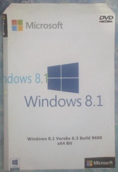 Cd Dvd Instalação E Formatação Windows 8.1 X64 + Kmspico 10