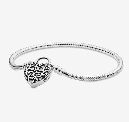 Pulsera Pandora 100% Original Broche Corazon Colgante Regal
