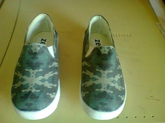 Zapatos Zero Verde Camuflado, Nuevos Para Niños
