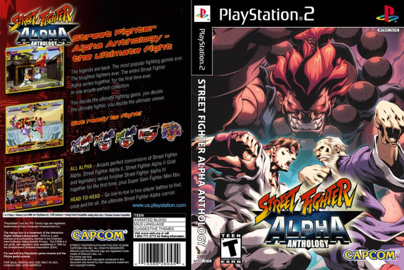 Street Fighter Alpha Anthology - Ps2 - Frete R$ 12,00