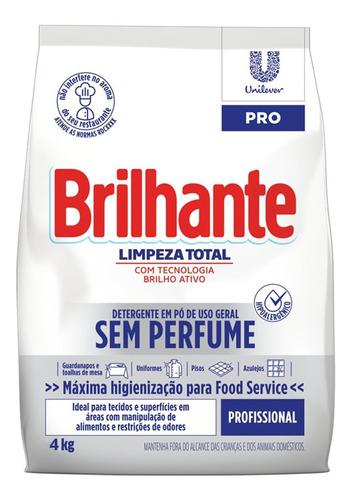 Detergente Em Pó Hipoalergênico Brilhante Prof Ação 4kg