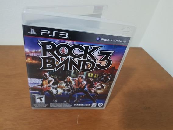 Rock Band 3 Usado Original Ntsc Manual Ps3 Mídia Física