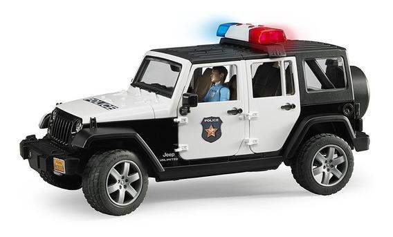 Jeep Wrangler Rubicon Con Muñeco Luz Y Sonido Bruder 2526