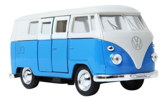 Combi Volkswagen Welly 1963 Escala 1:38 Abre Portón Lateral