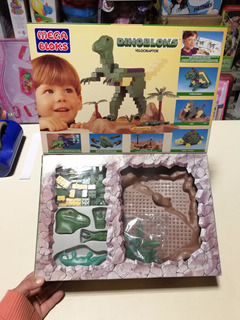 Mega Bloks Dino Bloques Velocirapto 175 Pzs Orig 1993 Jretro