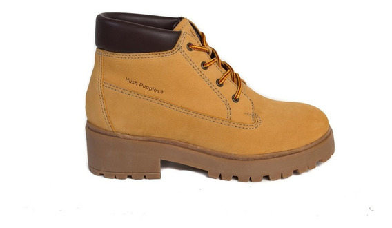 Bota Borcego Hush Puppies King Mujer Amarillo