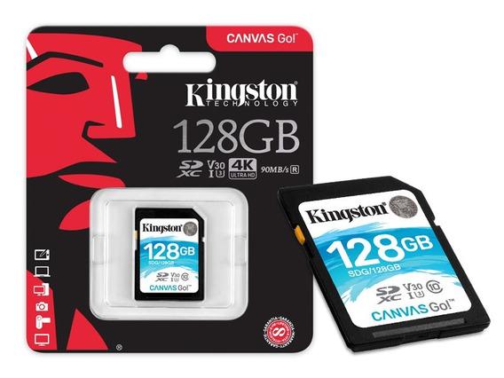 Cartão Sd 128gb Kingston Canvas Go Sdxc Classe 10 Original