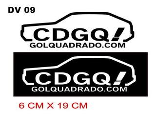 Adesivo Carro Gol Quadrado Decorativo Carro Antigo Cdgq