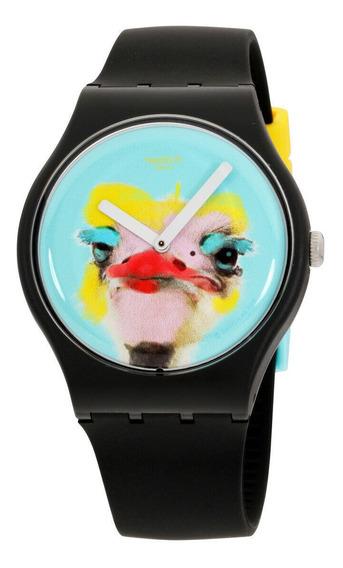 Relógio Masculino Swatch Suob159 Pulseira De Silicone