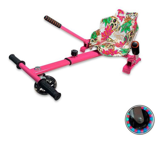 Hoverkart Carrinho Hoverboard Universal 6-10 Caveira/flores