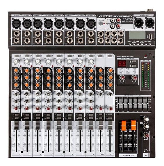 Mesa De Som Soundcraft Sx1202 Fx Usb Bivolt 12 Canais