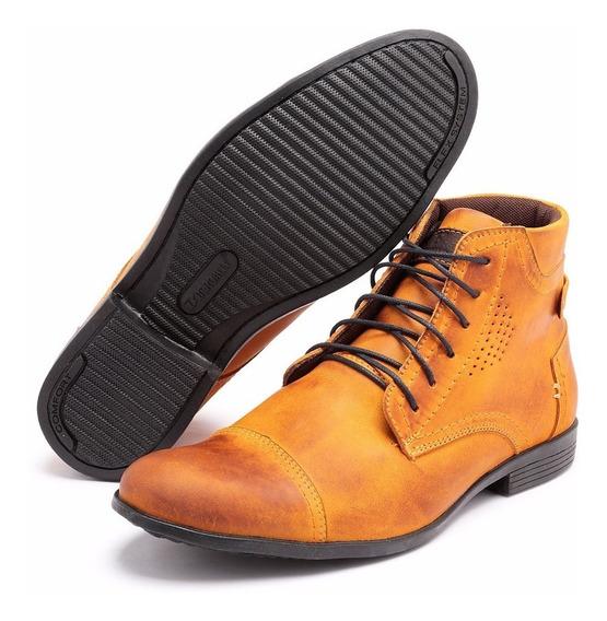 Bota Botina Sapato Social Couro Rústico Cano Alto E Baixo