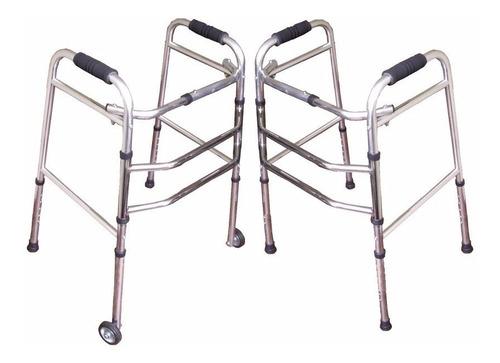 Andador Ortopedico Caminador Plegable Anciano C/sruedasº