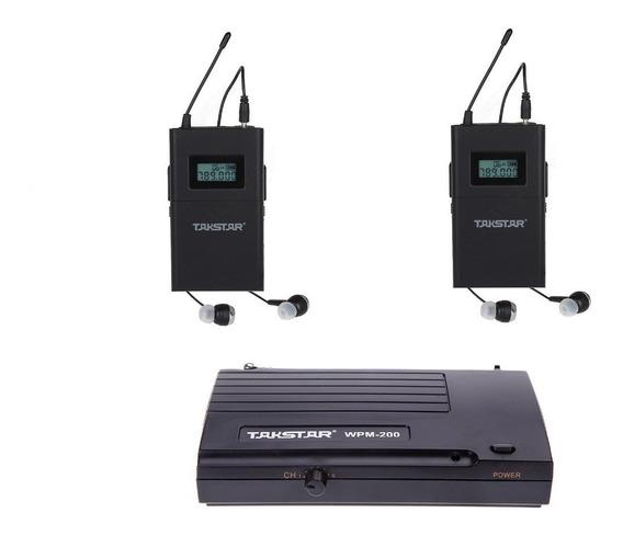 Retorno Palco In Ear Sem Fio Takstar Wpm-200 - 02 Receptores