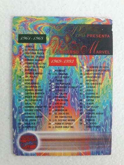 Tarjeta Pepsi Cards Marvel Lista