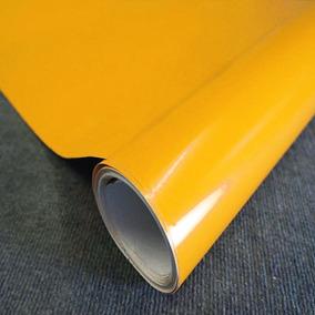 Adesivo Envelopamento Carro Moto Geladeira Amarelo Ouro 3mts