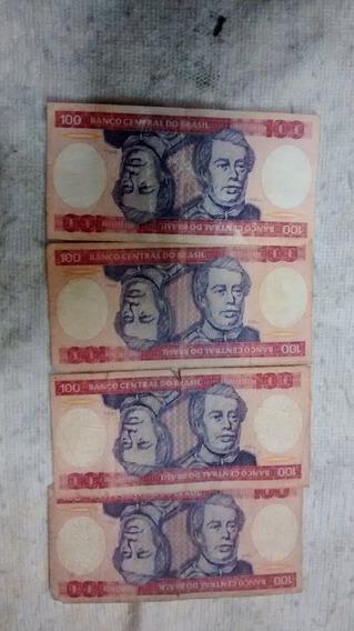 Cédula 100 Cruzeiros Cédulas Antigas Nota 100 Cruzeiros