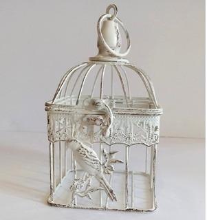 Jaula Decorativa Vintage X 2 Comercial Romana