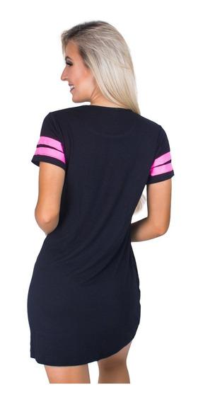 Vestido Camisa Feminino Longline Swag Festa Curto