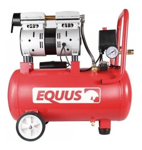 Compresor Equus 1hp 24l Sin Aceite Silencioso 600w - Ynter