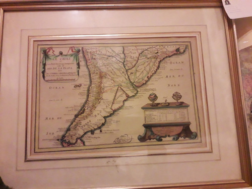 Mapa Antiguo Le Chili.., Nicolas De Fer, A. Paris. 1705
