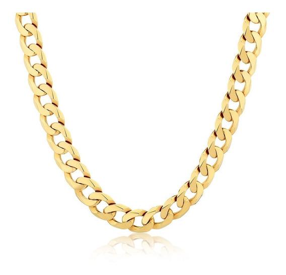 Collar Hombre - Cadena Hombre - Collar Eslabón Cubano - Collar Acero Quirúrgico Dorado - Cadena Eslabon Cubano Acero