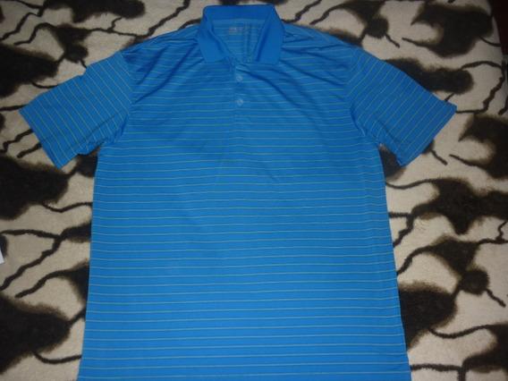 L Chomba Golf Nike Fitdry Azul Rayada Talle L Art 13044