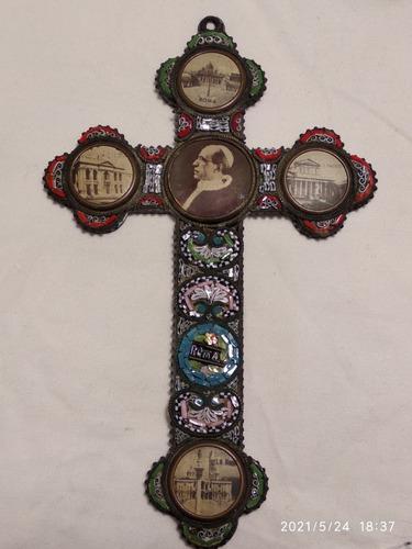 Imagen 1 de 5 de Antigua Cruz, Micro Mosaico Veneciana, Hermosa