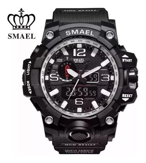 Relógio Militar - Smael Original Camuflado Com Caixa