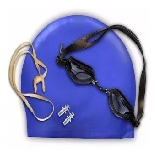 Set Natación Kit Gafas + Gorro Silicona + Tapa Oídos