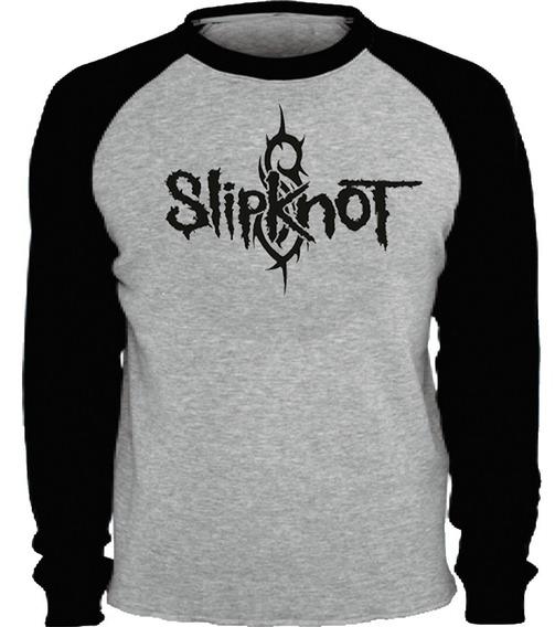 Camisa Slipknot Manga Longa Banda Camiseta Blusa Metal Rock