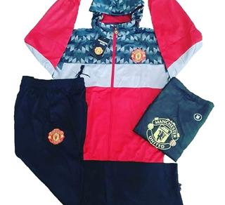 Conjunto Agasalho Blusa E Calça Time Manchester United Impor