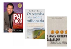Kit Livros Pai Rico Segredos Mente Homem Mais Rico Babilônia