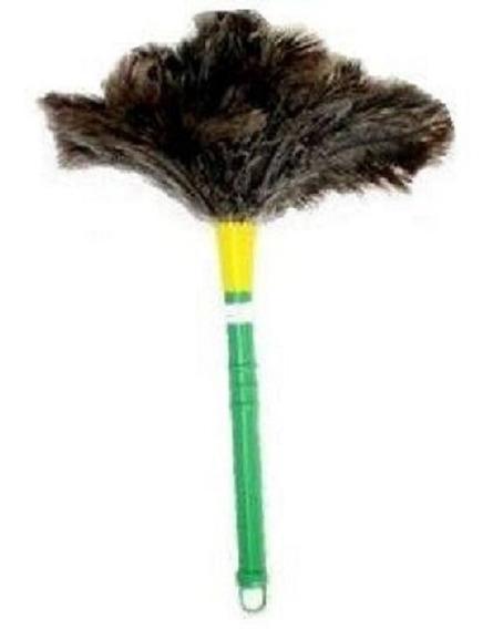 Espanador De Pó Duster Com Penas Naturais De Avestruz - 35cm