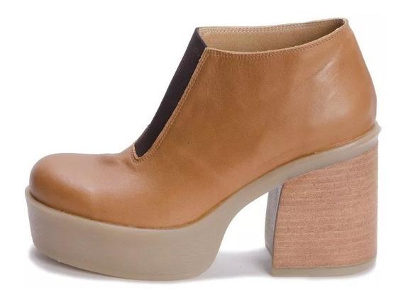 Viamo Bunete Zapato Botin Cuero Mujer
