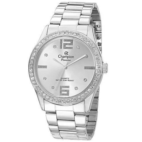 Relógio Champion Feminino Prata Analógico Ch24606q Original