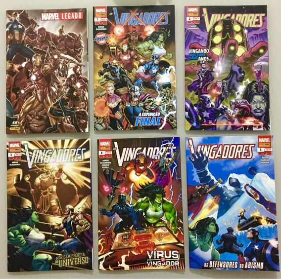 Hqs Os Vingadores - Nova Marvel - Legado - Volumes 1 A 5
