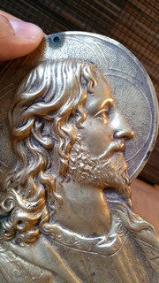 Sagrado Corazón Arte Sacro De Jesús En Bronce Antiguo