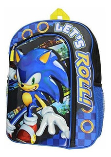 Sonic The Hedgehog Mochila Portatil Iridiscente Moldeada De