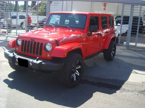 Jeep Wrangler 3.6 Unlimited X 4x4 At 2015 Rojo