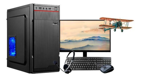 Computador Intel 8gb Hd500gb C/monitor 18,5 Vga 1gb Win10