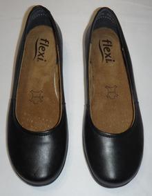 Flats Color Negro Marca Flexi Número 23.5 Corte Piel