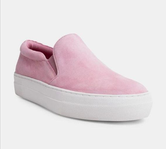 Steve Madden Slip On De Gamuza Suela De Platform Rosa Pastel