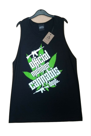 Camiseta Unisex Ares Urban Modelo Cannabis.