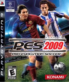 Jogo Pro Evolution Soccer 2009 Playstation 3 Ps3 Mídia Físic
